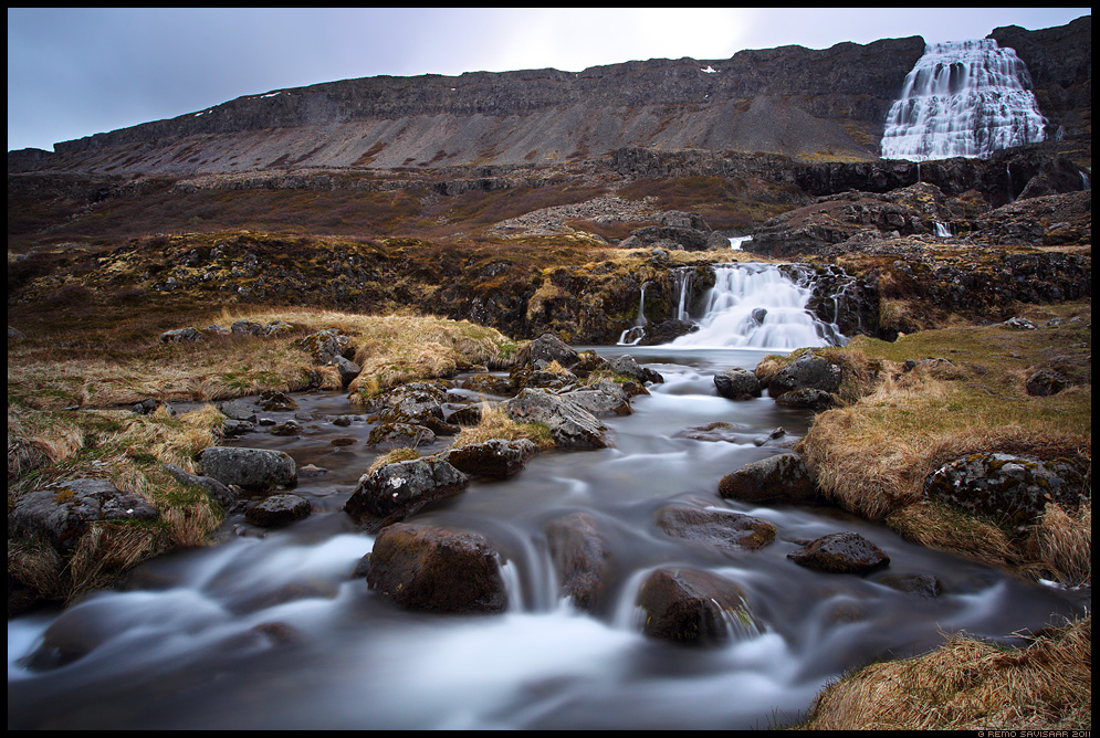 Island, Iceland, waterfall, Dynjandi, kosk, Fjallfoss