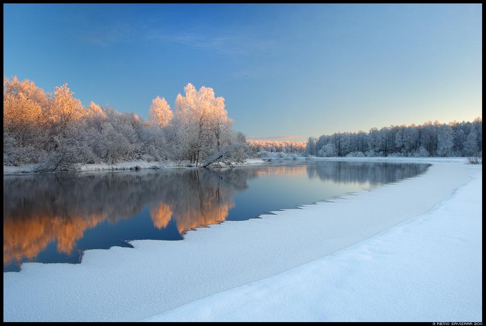 Ühe ilusa päeva lõpp, The End of a Beautiful Day, talv, jõgi, vesi, emajõgi, härmas, härmas härmatis hoarfrost  päikeseloojang, lumi, jää, jaanuar