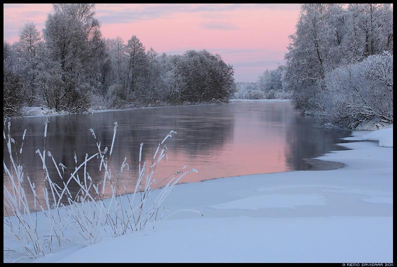 Talveõhtu, Winter Evening, talv, jõgi, vesi, emajõgi, härmas, härmatis, külm, maastik, lumi, jää, jaanuar, hämar, õhtu, evening