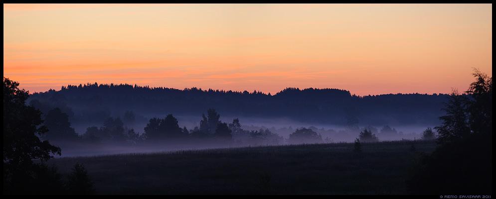 Juuli, July, rõduvaade, udune hommik, suvehommik