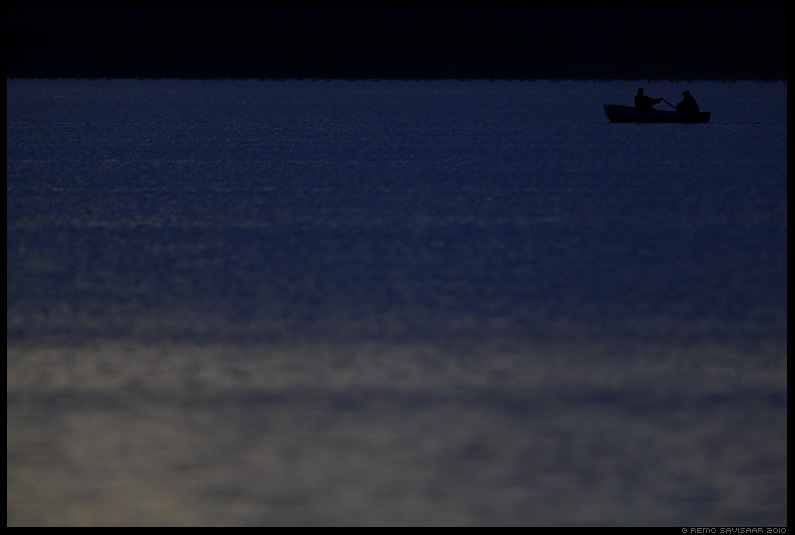 Öine kalapüük, Night fishing, järv, lake, öö, õhtu, pime, hämar, dark, gloomy