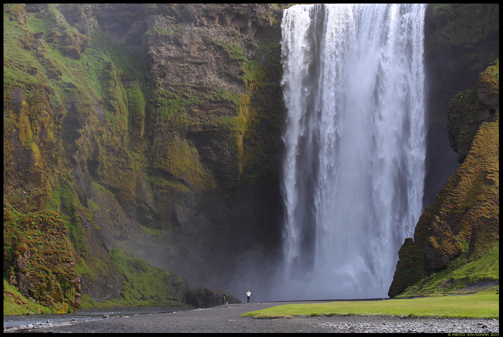 Skógafoss waterfall, kosk, iceland, island