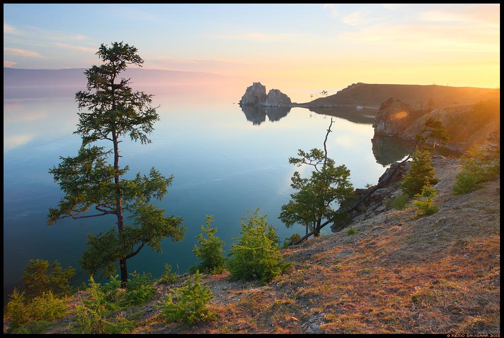Burkhan rock, Shaman's rock, the Shamanka Khuzhir, Olkhon island, Lake Baikal, Siberia, Russia Remo Savisaar nature wildlife photography photo blog loodusfotod loodusfoto looduspilt looduspildid