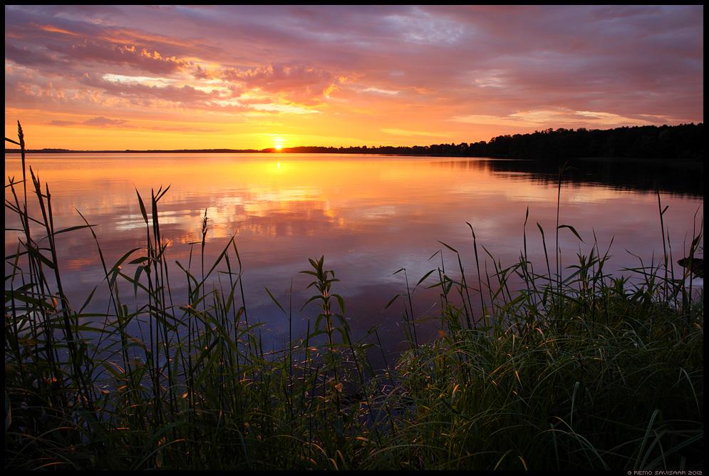 Suveõhtu, Summer evening, vesi, järv, saadjärv, water, lake, vooremaa, päikeseloojang, sunset