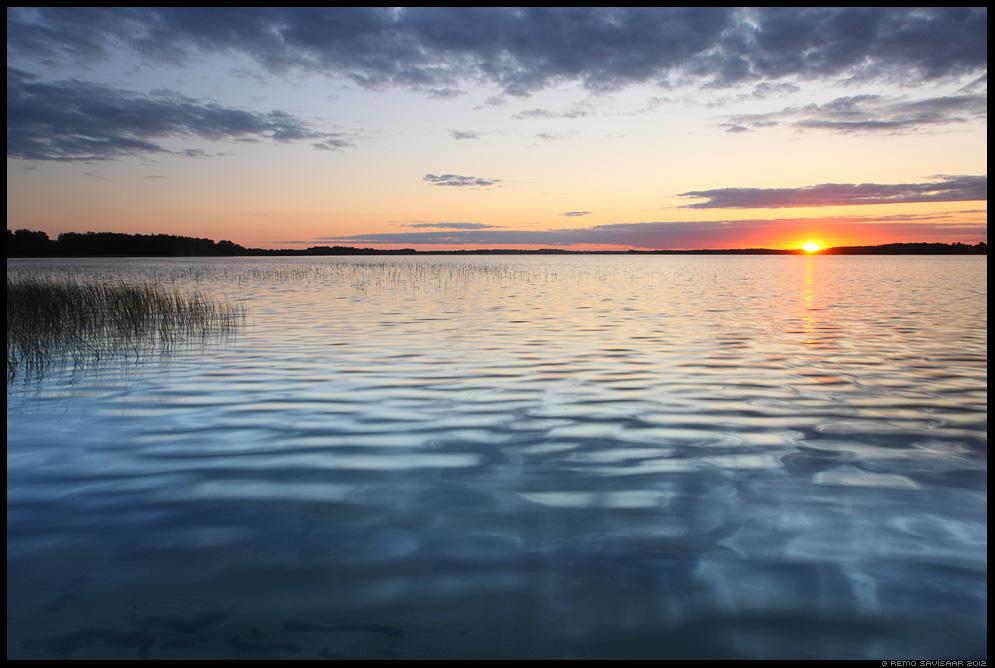 Külm õhtu, Chilly evening, vesi, järv, saadjärv, water, lake, vooremaa, päikeseloojang, sunset