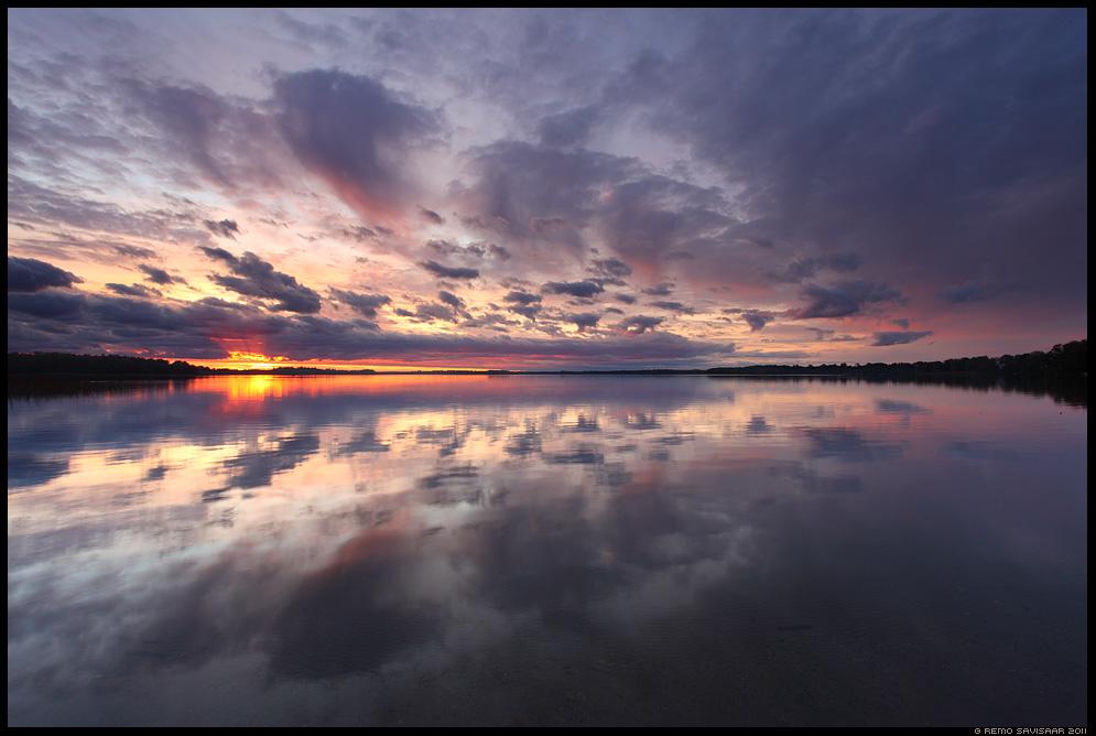 Vaikne õhtu, a Quiet Evening, järv, lake, saadjärv, päikeseloojang, sunset