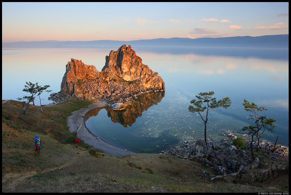 Burkhan rock, Shaman's rock, the Shamanka Khuzhir, Olkhon island, Olhon, Olhon island, Lake Baikal, Siberia, Russia Remo Savisaar nature wildlife photography photo blog loodusfotod loodusfoto looduspilt looduspildid