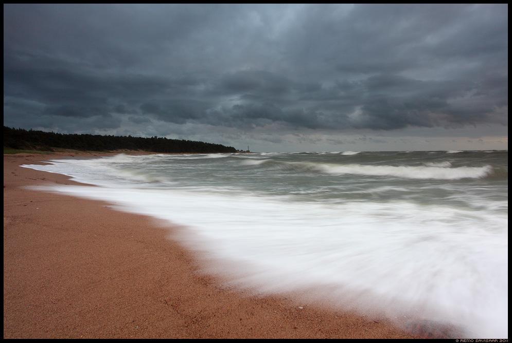 Tormine Ristna, Stormy, meri, õhtu, hiiumaa, läänemeri