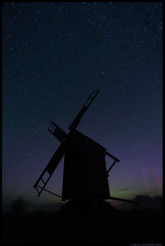 Northern Lights, öö, night, pime, tähistaevas, Virmalised, Aurora Borealis, Tubala tuulik, tuulik tubala, windmill, veski, tubala windmill, dago, dagö, hiiumaa, kärdla, estonia, hiiumaa island