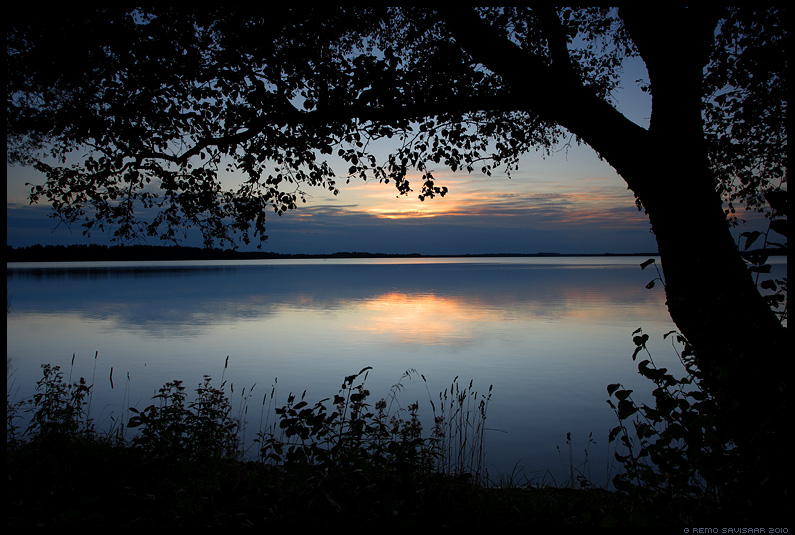 Vaikne õhtu, A Quiet Evening, järv, saadjärv, lake
